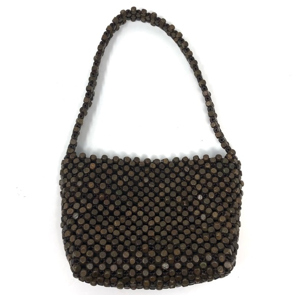 The Sak Handbags - The Sak Wood Beaded Hobo Bag Boho Chic Earthy